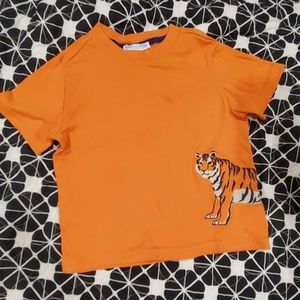 Janie and Jack embroidered orange tiger tshirt 2T